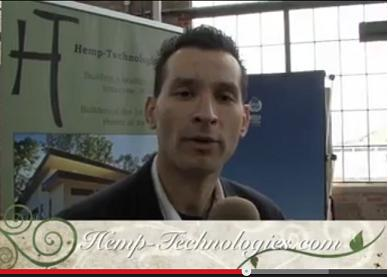 David Madera and Albert Guadan Represents HempCrete home Building Construction at the Deep Green Festival