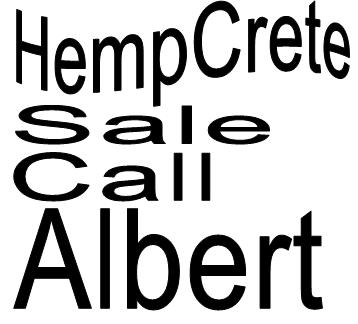 Call albert Buy Hempcrete Sale